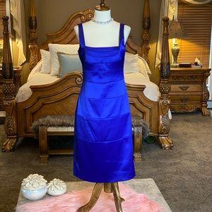 Signature by Sangria Blue Cocktail Dress Size 10
